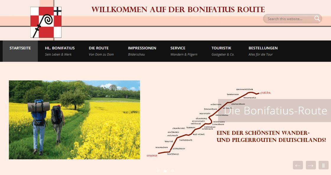 Bonifatiusroute in Hessen.