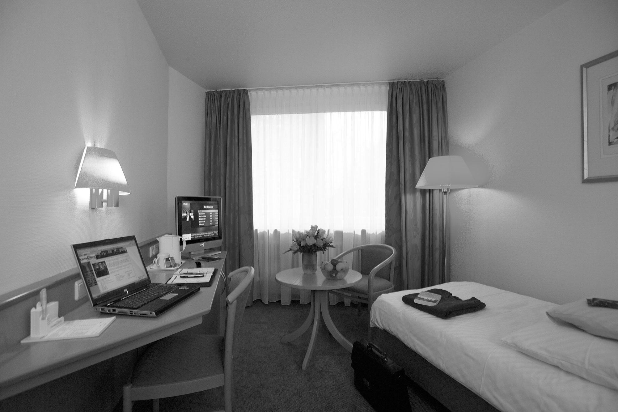 Central Hotel Eschborn, alte Zimmer.